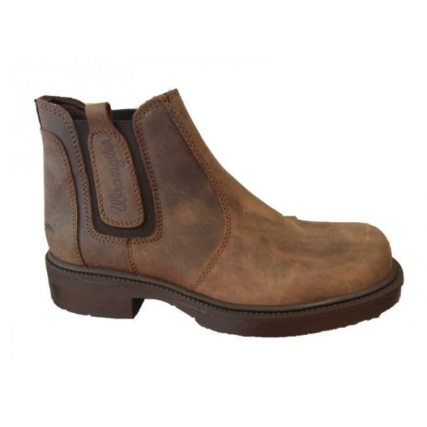 wrangler wm0130 pull on boot brown