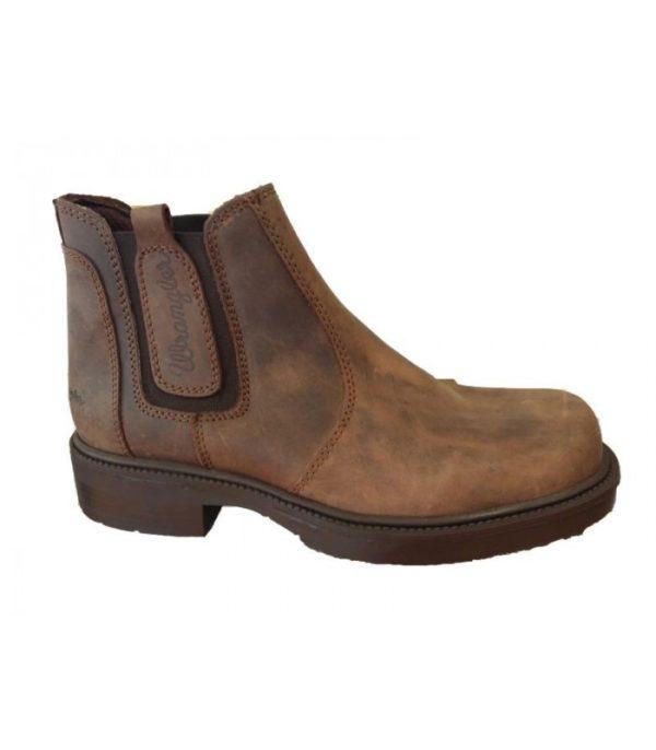wrangler wm0130 pull on boot brown