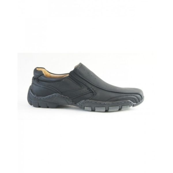 goor 14 mens slip on shoe black