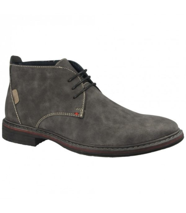 goor laced casual boot Grey