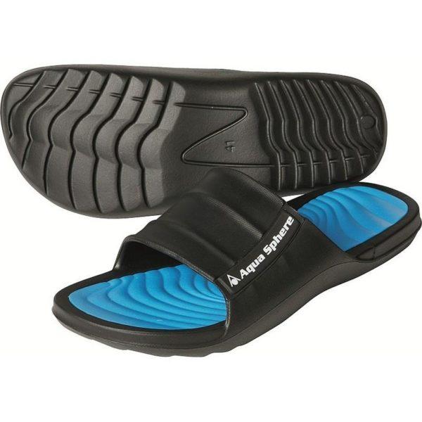 AquaSphere Mens Wave Pool Shoe Black Blue