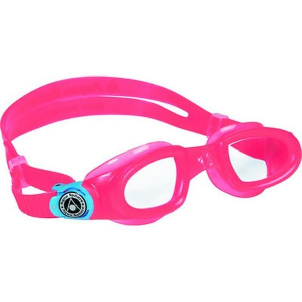 AquaSphere Moby Kid Goggle Clear Lens Pink White Buckles