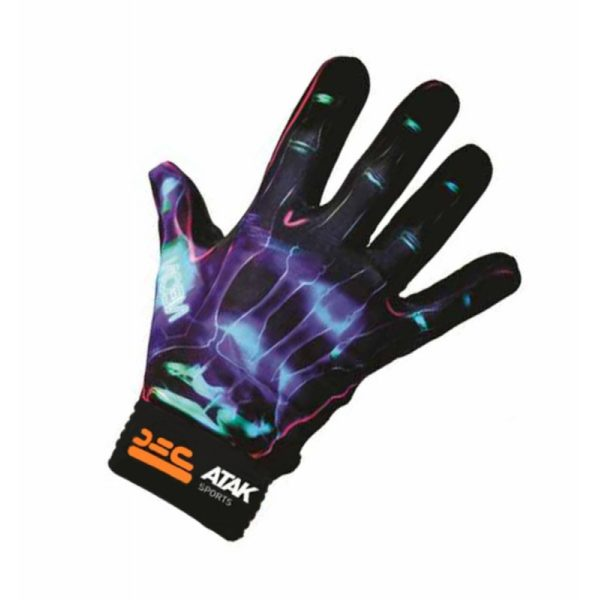BLUE NEON FOOTBALL GLOVES