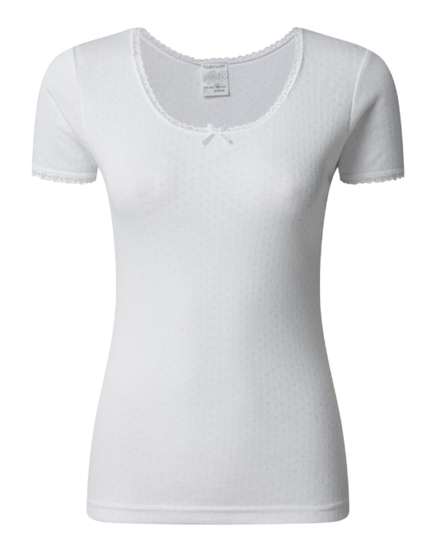 BRUSHED THERMAL SHORT SLEEVE WINTER TOP white