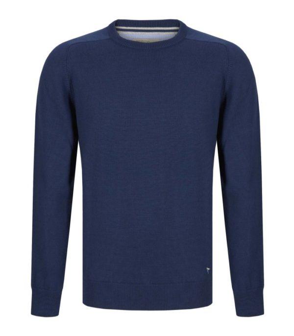 Drifter Round Neck Knit Blue