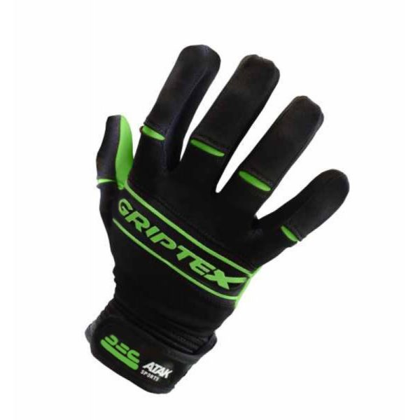 GREEN GRIPTEX FOOTBALL GLOVES