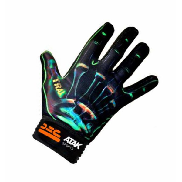 GREEN TRAX FOOTBALL GLOVES