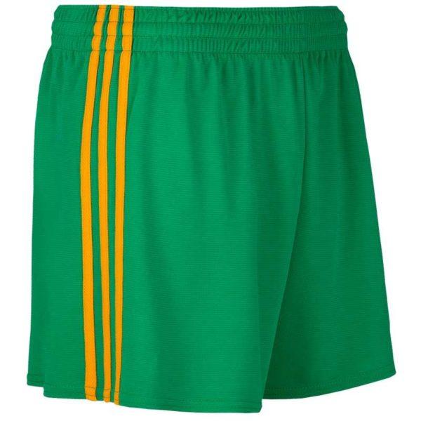 Mourne Shorts Kids Green Amber Stripes