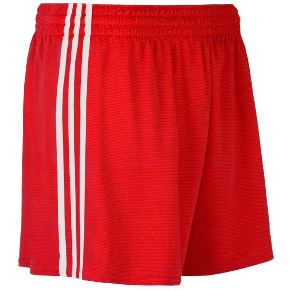 Mourne Shorts Kids RedWhite Side