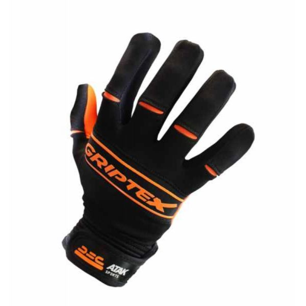 ORANGE GRIPTEX FOOTBALL GLOVES