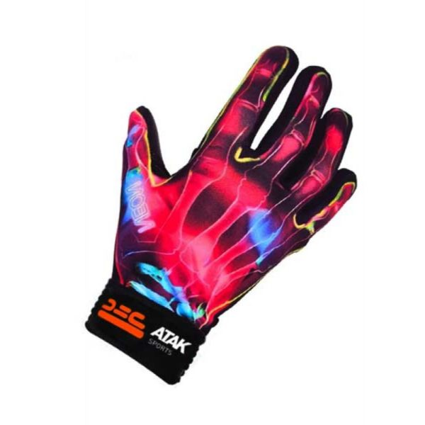 Pink Neon Football Gloves