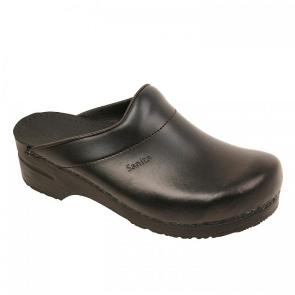 Sanita Karl Pu Open Clog Black