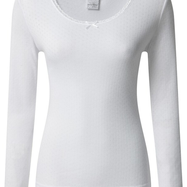 WOMENS BRUSH THERMAL LONG SLEEVE TOP white