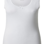 WOMENS BRUSHED THERMAL THICK STRAP VEST WINTER TOP WHITE