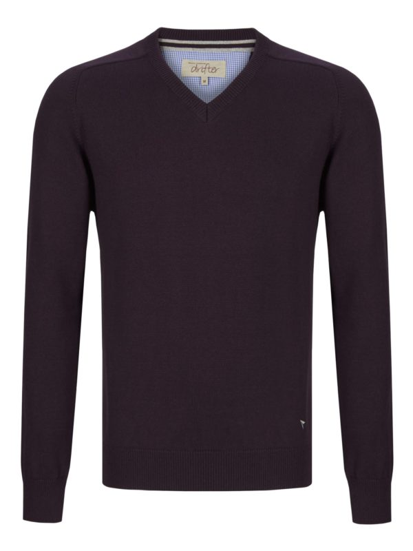 Purple v neck