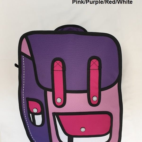 2D Large Pink Purple Red Wht