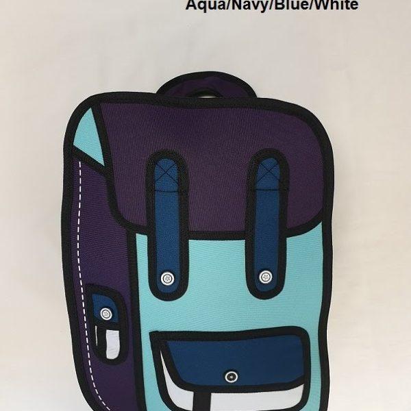 2D Small Aqua Navy Blue White