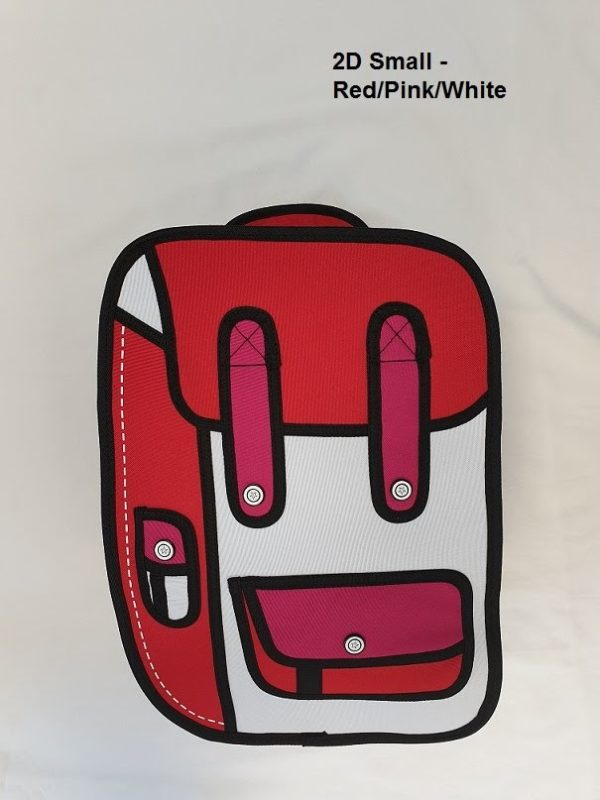 2D Small Red Pink Wht