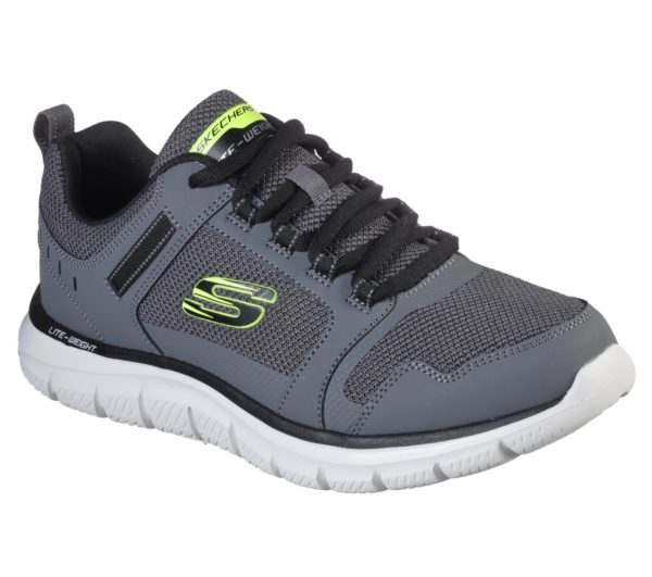 Skechers 232001CCBK Charcoal Mens Casual Comfort Lace Up Trainers Shoe Centre Dawlish 1400x