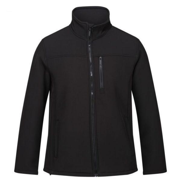 zaketa regatta mens conlan ii windproof softshell jacket black pi 2 pr 30158