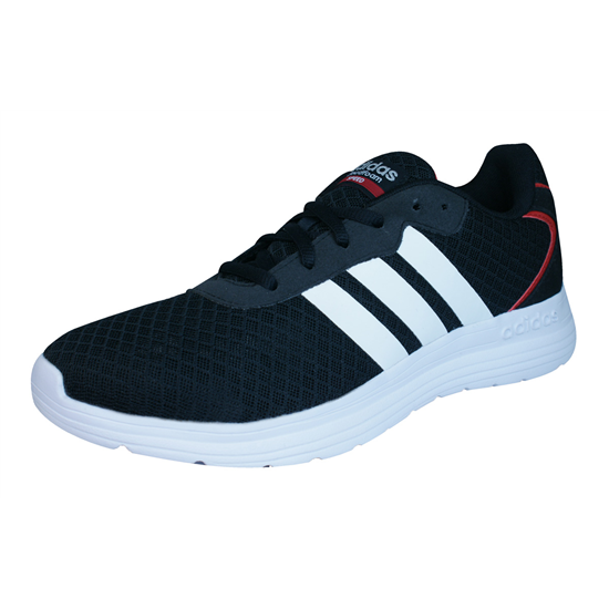 adidas neo cloudfoam speed mens running trainers shoes black