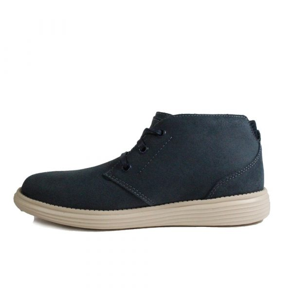 skechers status rolano 65551 navy suede leather mens lace up chukka boots p17752 77791 image