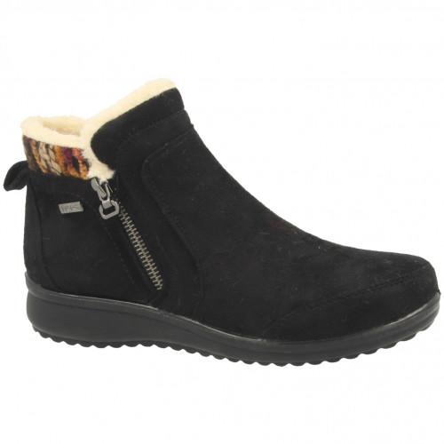propet ladies comfort fur ankle boot 00068551 br