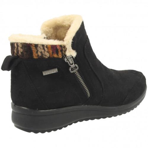 propet ladies comfort fur ankle boot 00068554 br